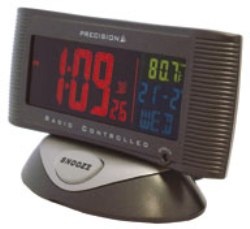 3 Colour LCD Alarm Clock with Mains Adaptor