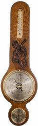 Carved Oak Banjo Barometer (588BTH)