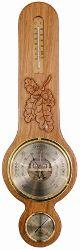 Hand Carved Oak Banjo Barometer (588BTH delux)