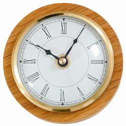 890 Caravan / Boat Clock White Roman