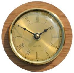 890 Caravan / Boat Clock Brass Roman