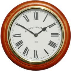 Pine Wall Clock Atlantic Steam Ship Company
