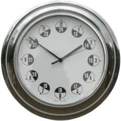 Metamec 24hr Spun Aluminium Wall Clock