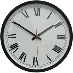 Metamec large black Roman wall clock