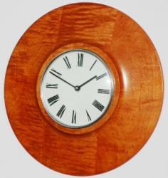 Stained Maple Wall Clock