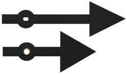 H43 Metal Clock Hands (Arrow)