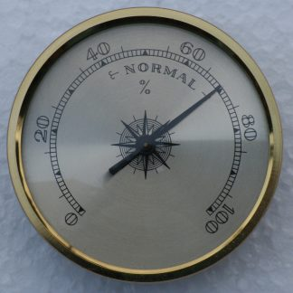 Hygrometer with Brass Dial and bezel.70mm