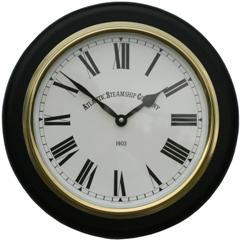 Black Wall Clock Atlantic Steam Ship Company