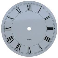 130mm brassed Aluminium Clock Dial with Roman Numerals