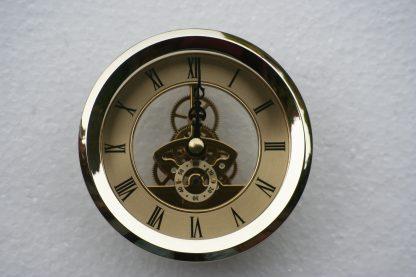 97mm Skeleton Clock in Brass