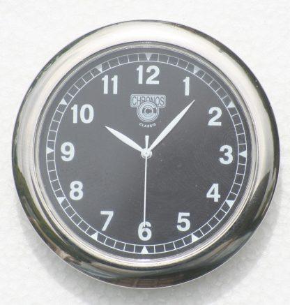 Black dial silver bezel